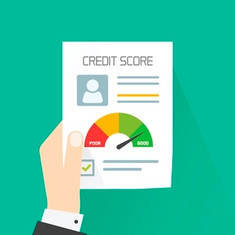 Photo of a credit score report