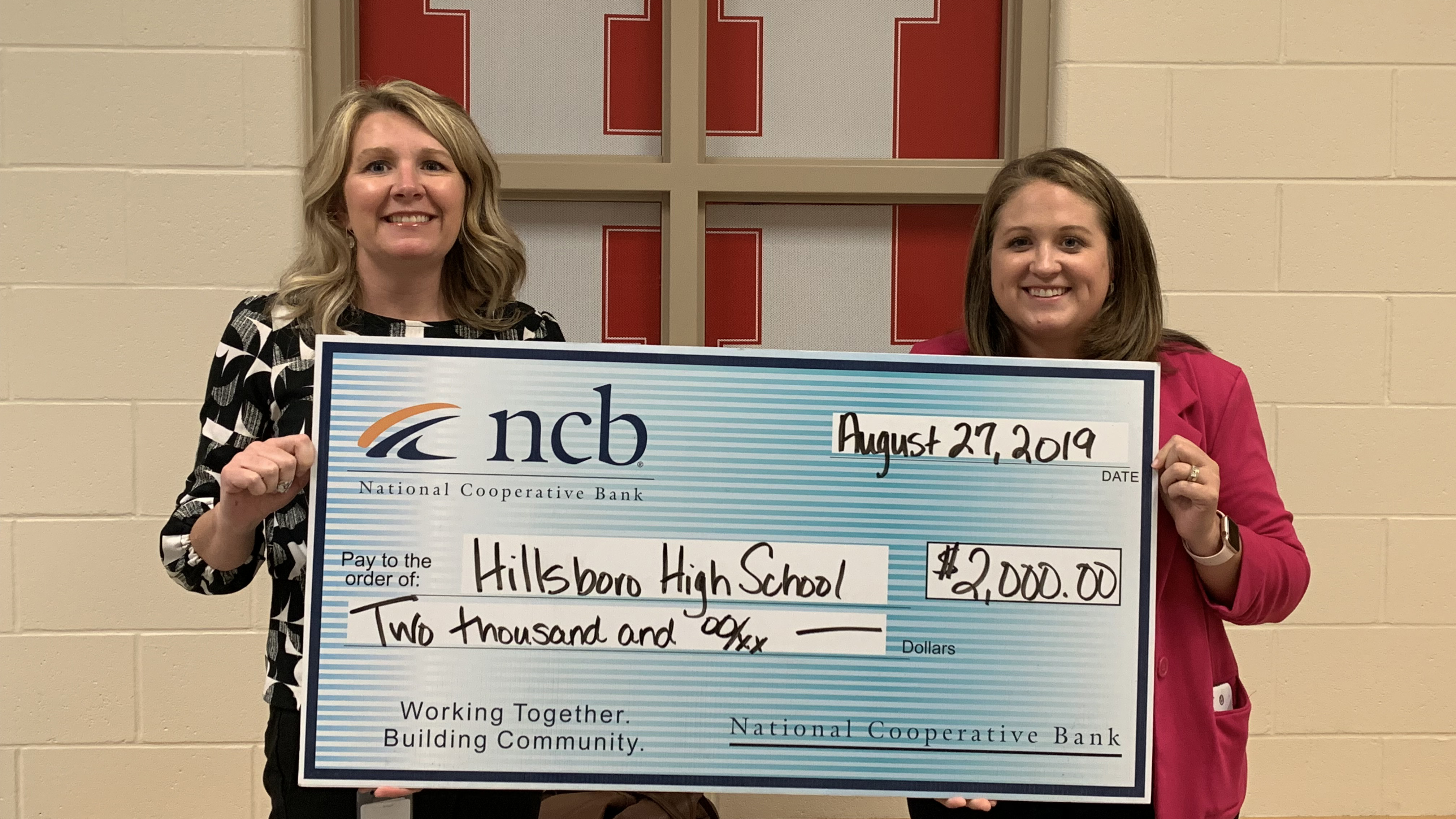 NCB Awards Hillsboro High School a $2,000 Technology Grant