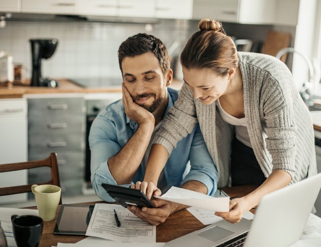 couple working on personal finances together