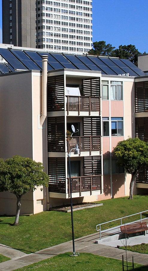 solar panels on st. francis housing