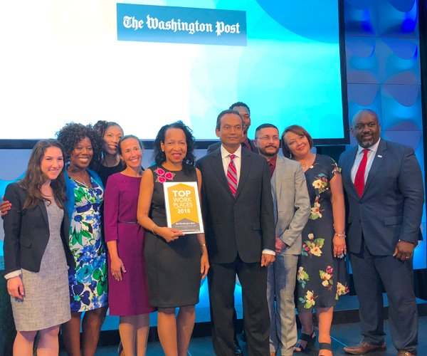 NCB was awarded Top Workplace 2018 by the Washington Post