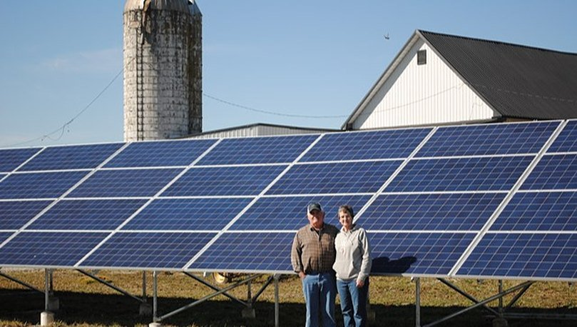 An Ohio dairy farm is banking on the sun